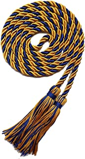 Graduation Honor Cord Two-color Braided Grad Days(Gold And Royal Blue)