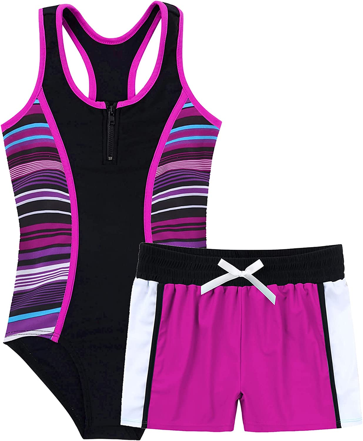 iiniim Kids Our shop most popular Girls 2 Piece Tankini Set Swimsuit Surfing One-Piece Challenge the lowest price of Japan ☆