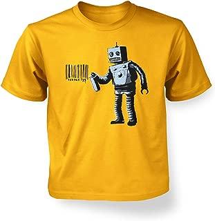 Banksy Coney Island Tagging Robot Kids' T-shirt