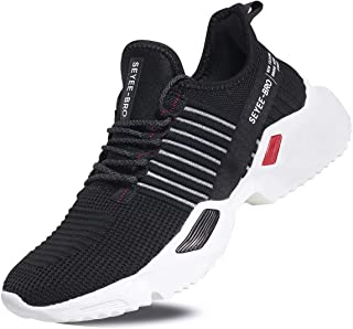 Seyee-bro Men's Athletic Running Shoes - Breathable Fashion Sneakers - Lightweight Sports Shoes Road Trail Running Shoes Men