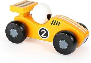 Small Foot 11132 leksaksfordon gul flizer av trä, FSC 100 % certifierad, i solgul design, främjar lekfullt motoriska leksa...