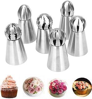 Xfaiz Lot de 6 douilles russes en acier inoxydable pour décoration de gâteaux et cupcakes