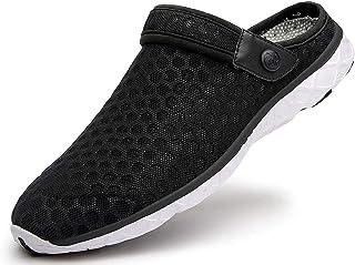 Sabots Mules Femmes Hommes Respirant Chaussures de Jardin de Plage D'Été Pantoufle de Maison Chaussons d'Intérieur Extérie...
