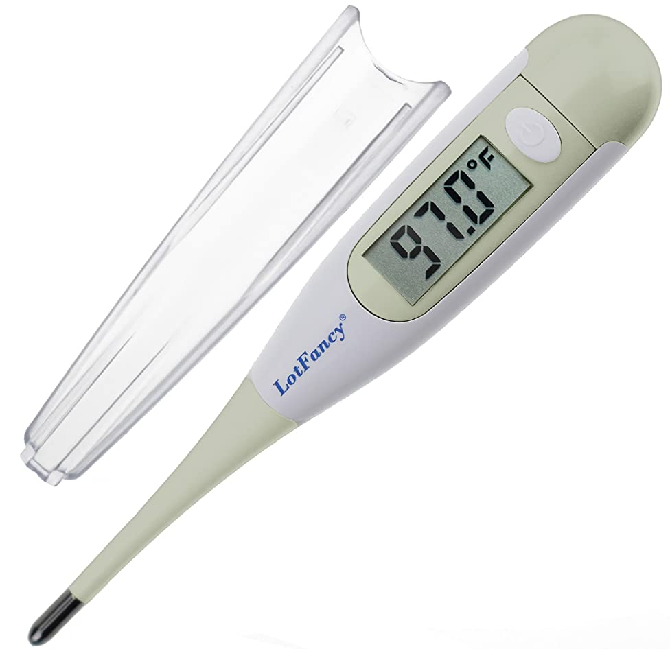 LotFancy Digital Thermometer Medical, Oral Thermometer for Adults Kids, Fever Axillary Thermometer, Accurate and Fast Reading