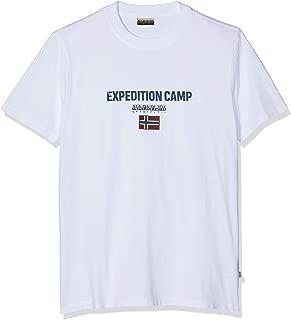 Napapijri Short Sleeve Man's Men T-Shirt Round Neck Cotton Item N0YIIX SONTHE
