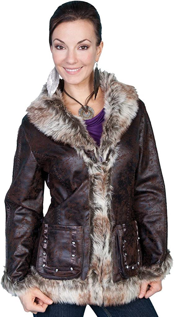 Scully Women's Faux Leather and Max 67% OFF Gifts - Fur 8013 Jacket