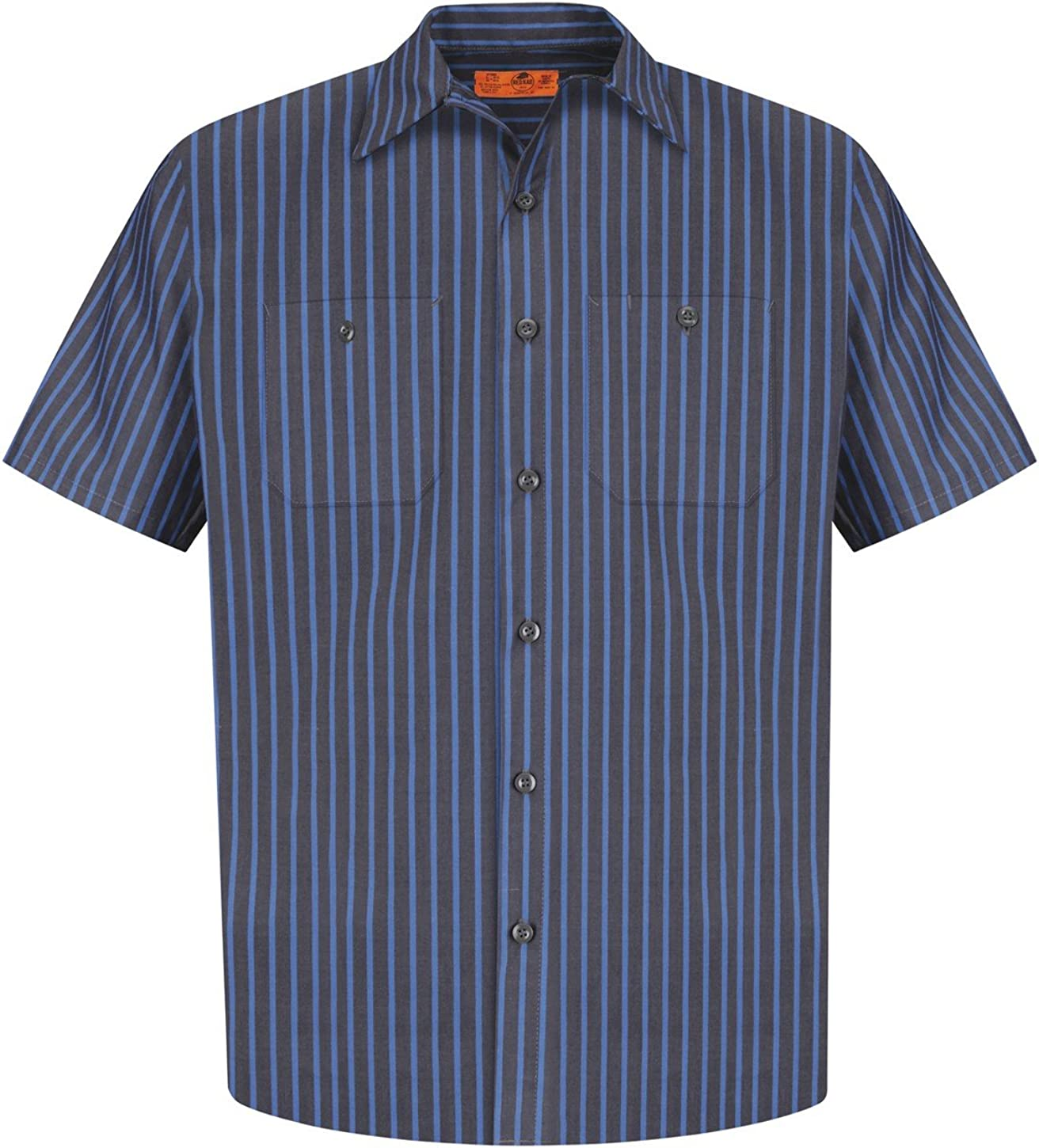 Red Kap Oakland Sale price Mall Mens Short Sleeve Shirt Striped Work Industrial