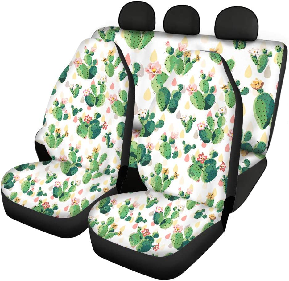 TOADDMOS 日本正規代理店品 Cute Cactus Flower Pink Car for Covers Set Wo 送料無料激安祭 Seat Full