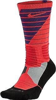 Mens Hyper Elite Basketball Powerup Crew Socks
