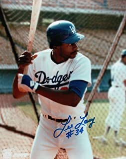 Lee Lacy Signed 8X10 Photo Autograph LA Dodgers Batting Cage Center Auto COA