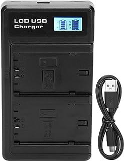 Fdit USB-oplader met twee NP-FZ100-accu's voor Sony Alpha 9 A9 9R A9R 9S A9S A6600 A7RIII A7R3 A7 III, achtergrondverlicht...
