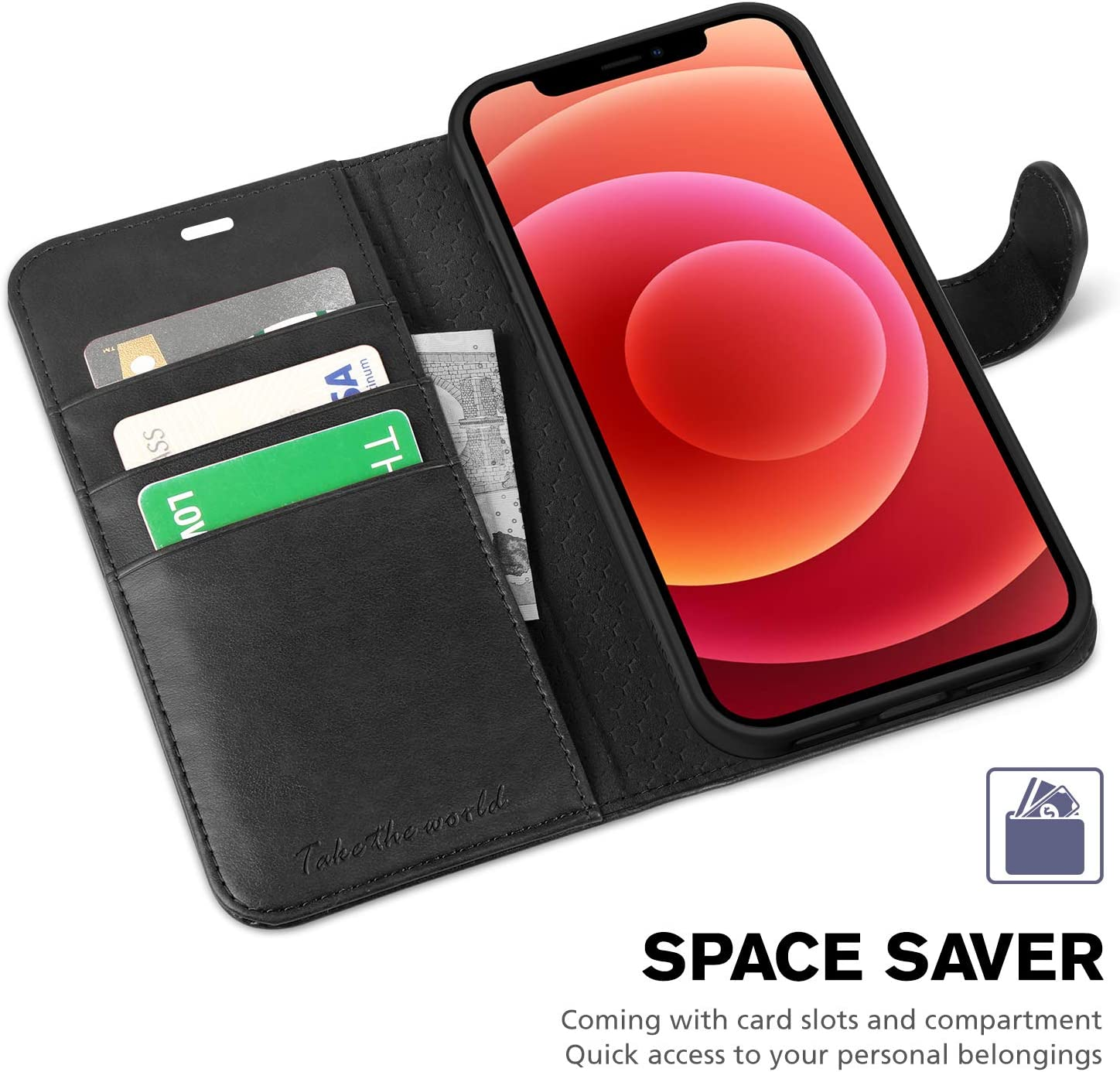 Credit Card Holder TUCCH iPhone 12 Pro Case Magnetic Closure RFID Blocking Stand TPU Shockproof Folio Flip Cover Compatible with iPhone 12//12 Pro 5G iPhone 12 Wallet Case 6.1 2020 - Lake Blue