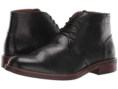 Steve Madden Viscal (Black Leather) Men