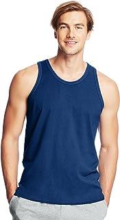 Hanes SHIRT メンズ カラー: ブルー