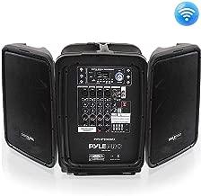 Pyle PPHP898MX 600 Watt 8-Channel Portable Bluetooth Wireless PA Speaker Amplifier Kit with 8