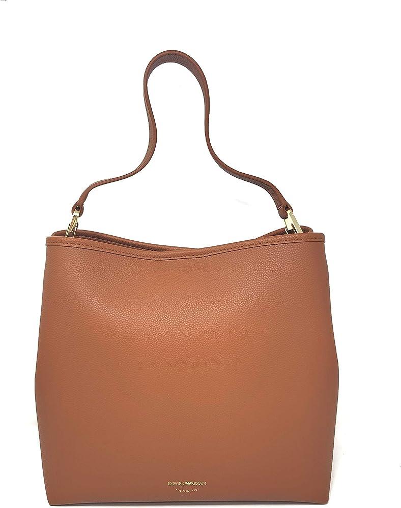 Emporio armani borsa da donna con pochette interna in pelle sintetica Y3E168-YFO5B-85550