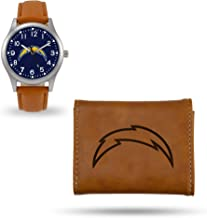 Rico Industries Chargers Sparo Brown Watch and Wallet Set
