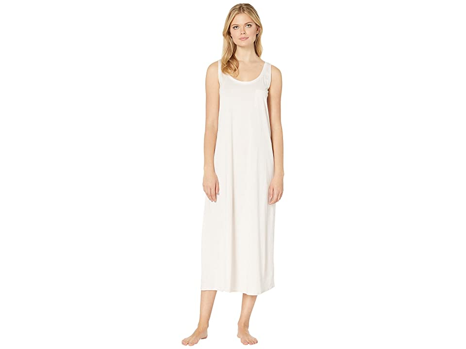 Hanro Cotton Deluxe Long Tank Nightgown (Crystal Pink) Women