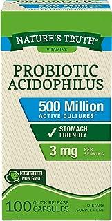 Nature's Truth Probiotic Acidophilus 500 Million, 100 Count