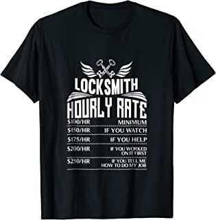 Funny Locksmith T-Shirt Great Gift for Dad
