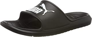 PUMA Men's Divecat V2 Slide Sandal, Black White