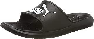PUMA Men's Divecat V2 Slide Sandal, Black White