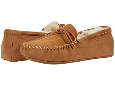 Minnetonka Sheepskin Softsole Moc (Golden Tan) Men