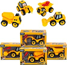 DIY Series 48 Pack - Wholesale Under Construction Assembly Trucks in 4 Assorted Styles - Bulk Case of Toy Trucks