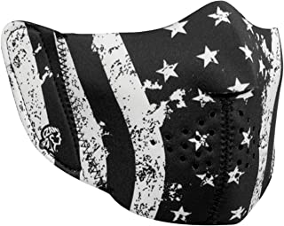 ZANheadgear Unisex-Adult Neoprene Detachable Mask (Modi-Face Accessory, Black/White) (One Size Fits Most, Multi)