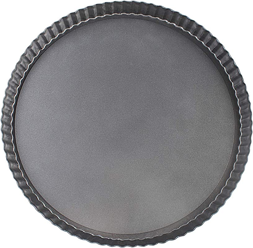 Vanly 12 6 Inch Round Loose Bottom Quiche Tart Pan Non Stick Tart Pie Pizza Pan With Removable Base