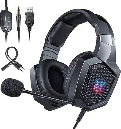 Cuffie Gaming per PS4, ONIKUMA Headset Gaming con microfono Cancellazione del Rumore, Controllo del Volume, Illuminazione a LED RGB/Jack 3.5mm per PS4/Xbox One X/S/Nintendo Switch/PC/Laptop - Nero - Trova i prezzi più bassi