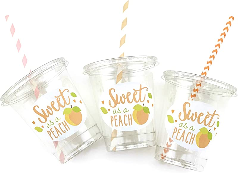 Sweet As A Peach Party Disposable Cups 12 Set