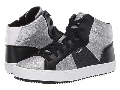 Geox Kids Jr Kalispera 24 (Big Kid) (Silver) Girls Shoes
