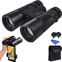 Maylehare Bird Watching Hunting Birding Binoculars for Adults Night Vision 12x42 Multi-Coated Wide Angle HD Lens with New ...