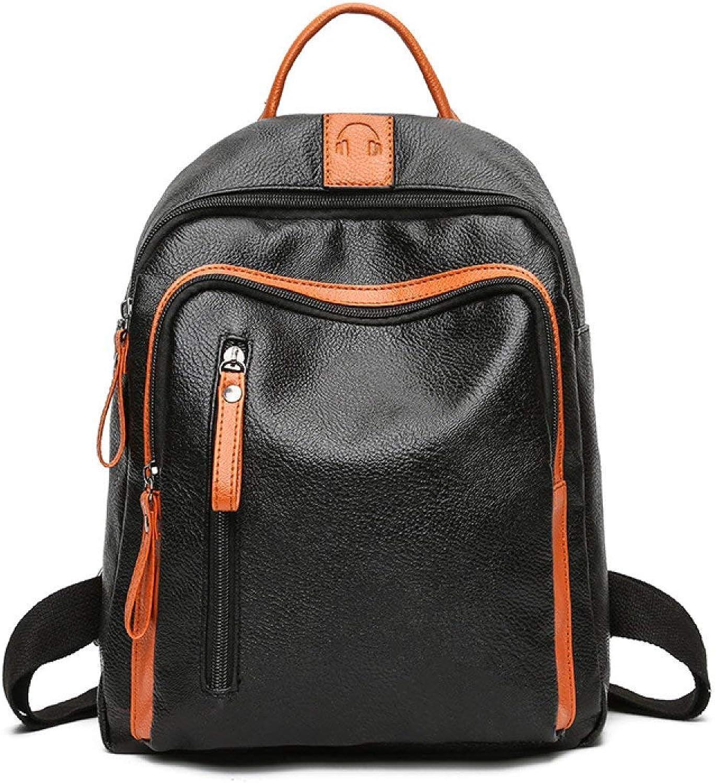 89e7335edfca6 Willsego Frauen Frauen Frauen Rucksack PU Student Taschen Bestickt  Schultertasche (Farbe Schwarz
