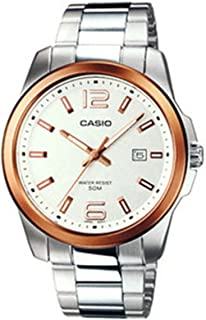 Casio Enticer Quartz Movement White Dial Men's Watch...