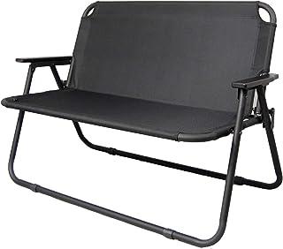 revir of river フォールディングベンチ アルミ グランド ベンチ 背付 二人がけ 折り畳み ローチェア アウトドア BBQ ソロキャンプ