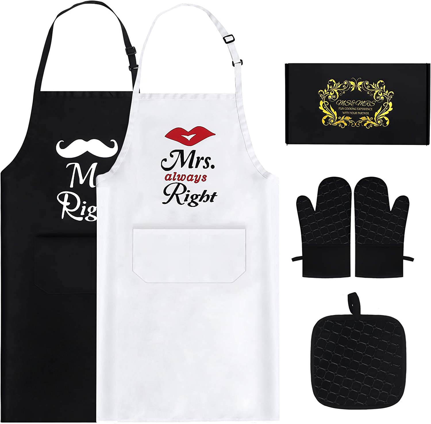 Mr Mrs Aprons For Happy Mail order cheap Popular brand Comfook Bridal Gi Shower Couple