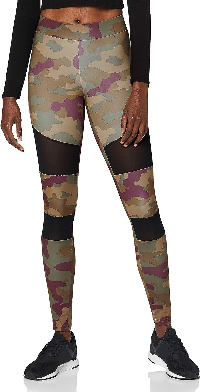 Urban Classics Ladies - TECH camo Leggings MESH tarn Fitness Max 44% OFF price