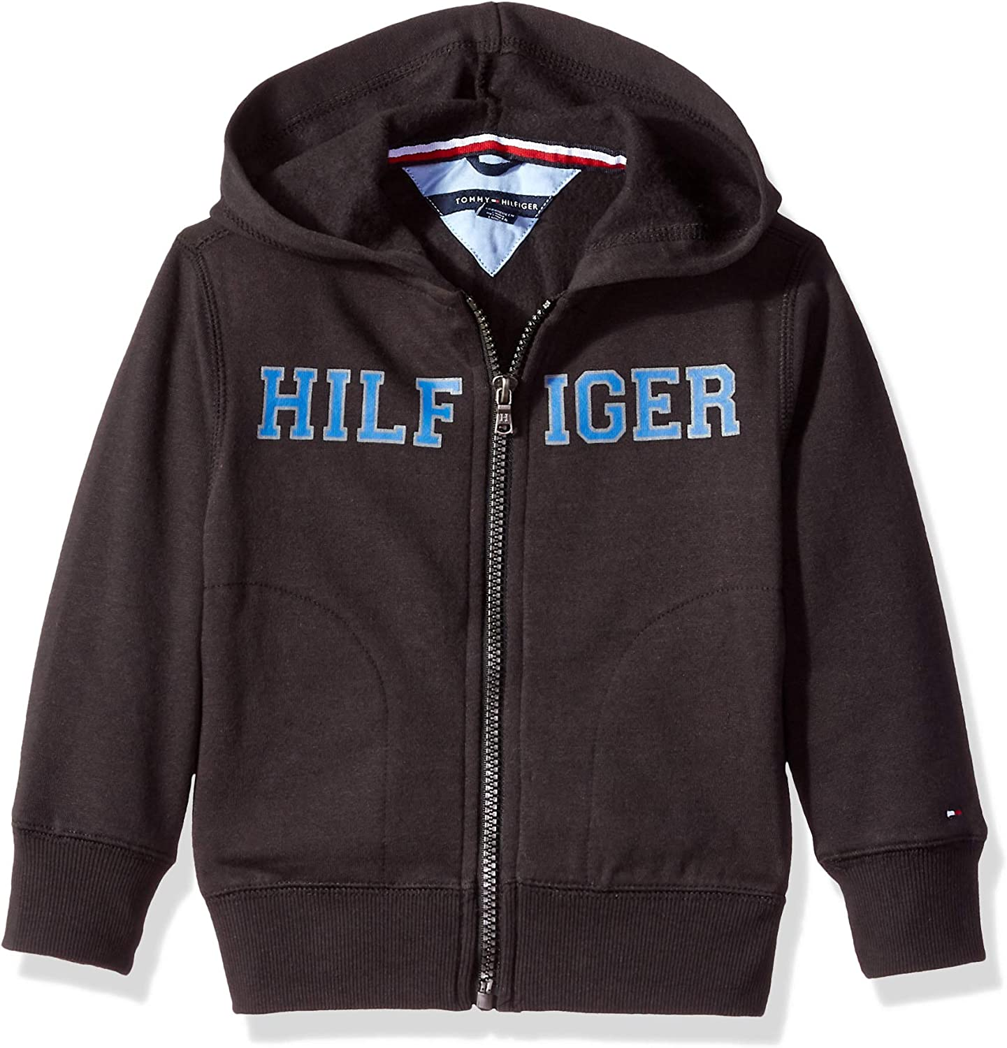 Tommy Hilfiger Boys Long Sleeve Matt Logo Zip Up Hoodie