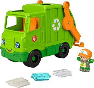 Fisher-Price Little People Recycling Truck, push-along musical toy with figure for toddlers and preschool kids ages 1 to 5...