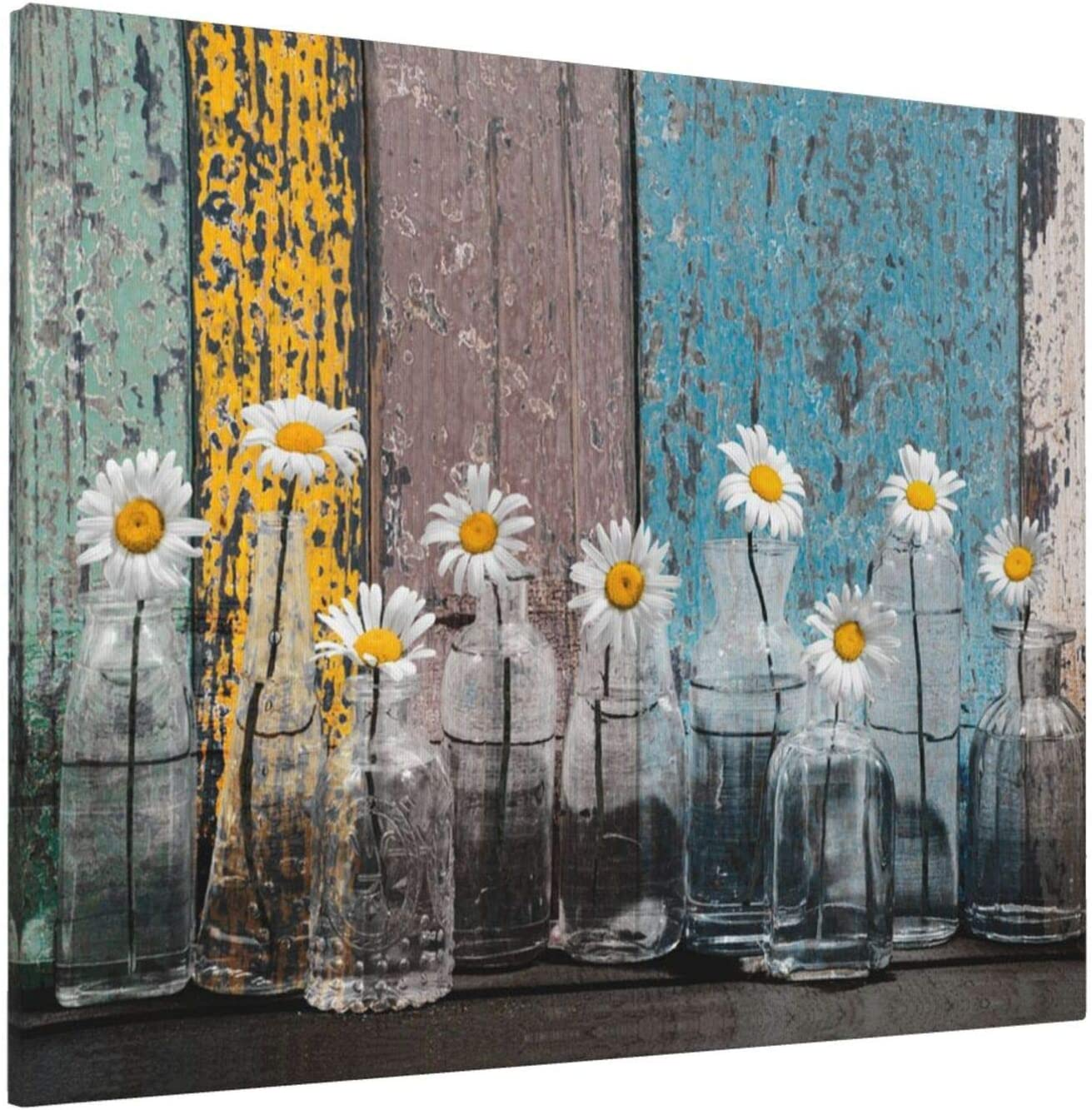 EZYES Vintage Daisy Flower shipfree Vase Picture Modern Painting Austin Mall Abstract