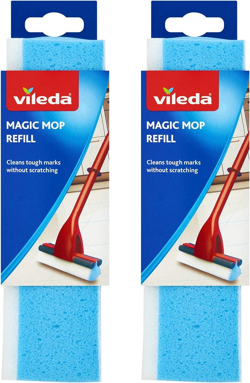 Vileda Magic Mop Refill Blue Pack Of 2 Amazon Co Uk Kitchen Home