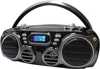 Sylvania SRCD682BT Bluetooth CD Portable Boombox w/ AM/FM Tuner Black (Renewed)