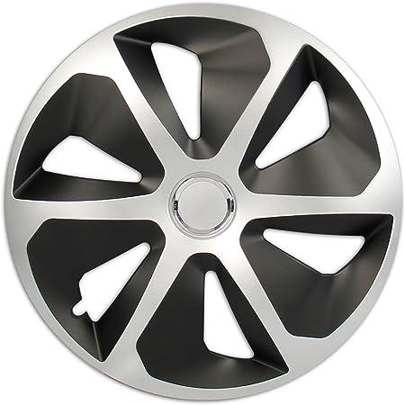 Cartrend Radzierblenden Set Rocco 4 Er Set 38 10 Cm 15 Zoll Silber Schwarz Auto