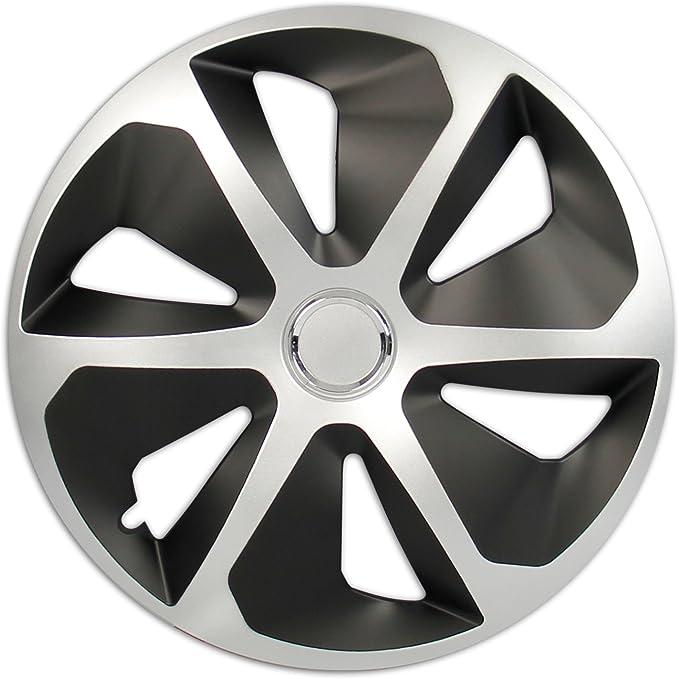 Cartrend Cartrend Radzierblenden Set Rocco 4 Er Set 40 64 Cm 16 Zoll Silber Schwarz Auto