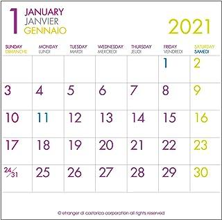 エトランジェディコスタリカ 2021年 カレンダー 卓上 CD フーツラM 0102-CLS-CD-03