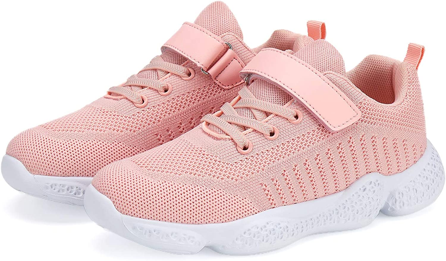 Hetios Kids Shoes Girls Lightweight Athletic Running Shoes Breathable Knit School Sports Shoes (Toddler/Little Kid/Big Kid)