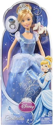 Mattel X2843 - Disney Princess M henglanz Prinzessin Cinderella, inklusive Ring