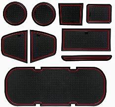 KOKOFA Custom Fit Cup, Door Non-Slip Anti-dust, Console Liner Accessories for BRZ 86 FR-S 2019 2018 2017 2016 2015 2014 2013 Subaru Toyota Scion -9 pcs Set (Red Trim)